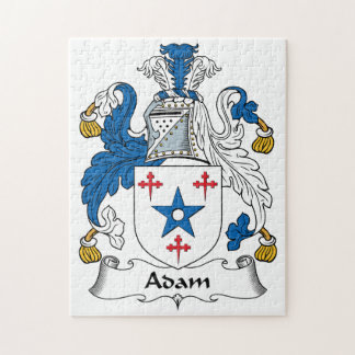 Adam Family Crest Jigsaw Puzzles