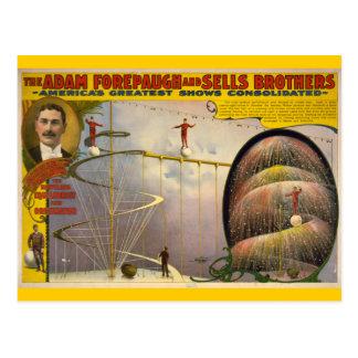 Adam Forepaugh and Sells Brothers Circus Poster Postcard