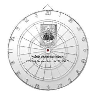 Adam Gumpelzhaimer 1625 Dartboard With Darts