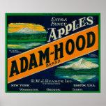 Adam-Hood Apple Crate LabelHood River, OR Poster