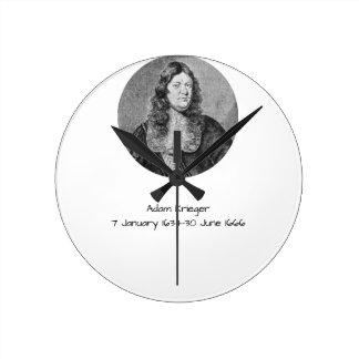 Adam Krieger Round Clock