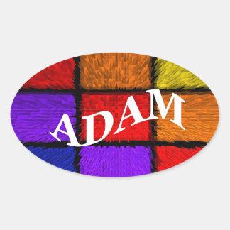 ADAM (male names) Oval Sticker