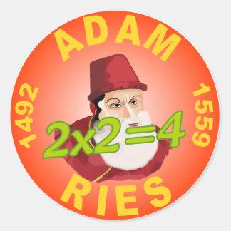 Adam resma pegatina redonda