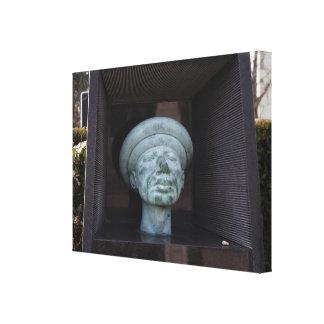 Adam - Sculpture On Rudolf Hausner's Grave Canvas Print