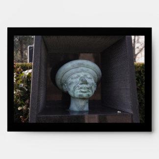 Adam - Sculpture On Rudolf Hausner's Grave Envelopes