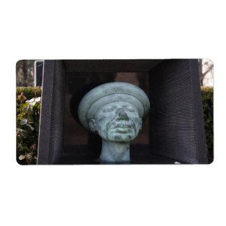 Adam - Sculpture On Rudolf Hausner's Grave Shipping Labels