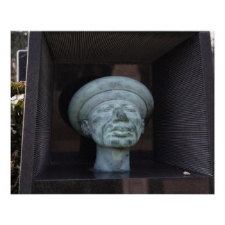 Adam - Sculpture On Rudolf Hausner's Grave Poster