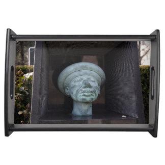 Adam - Sculpture On Rudolf Hausner's Grave Serving Tray