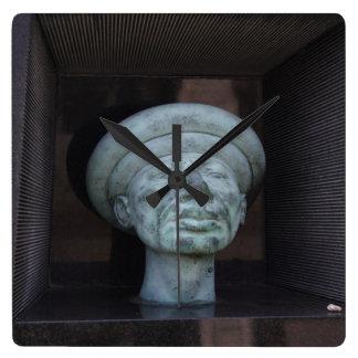 Adam - Sculpture On Rudolf Hausner's Grave Square Wall Clock