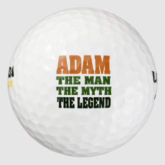 Adam - the Man, the Myth, the Legend! Pack Of Golf Balls