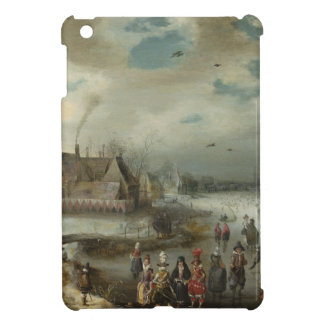 Adam van Breen Skating on the Frozen Amstel River iPad Mini Cover