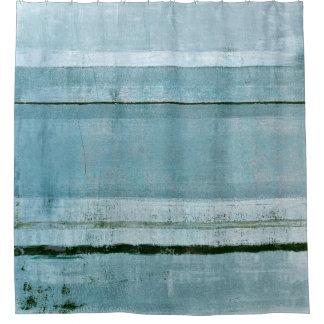 'Adamant' Blue Abstract Art Shower Curtain
