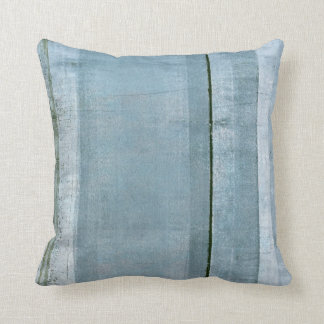 'Adamant' Blue and Black Abstract Art Pillow