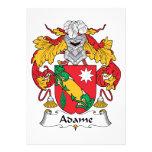 Adame Family Crest Personalized Invites