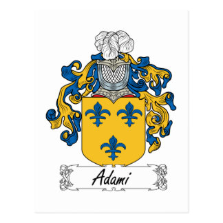 Adami Family Crest Postcard