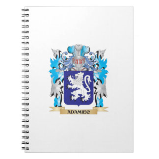 Adamiec Coat Of Arms Spiral Note Book