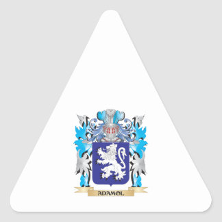 Adamol Coat Of Arms Triangle Sticker