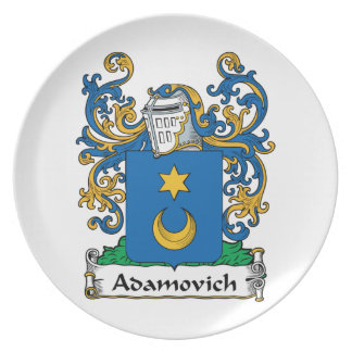 Adamovich Family Crest Dinner Plate