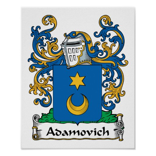 Adamovich Family Crest Poster