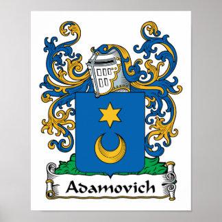 Adamovich Family Crest Poster