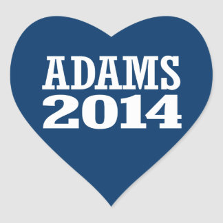 ADAMS 2014 HEART STICKERS
