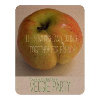 ADAM'S APPLE Veggie Party Invitation