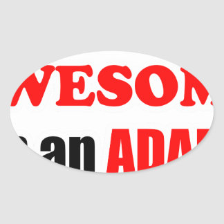 Adams Awesome Family Oval Sticker