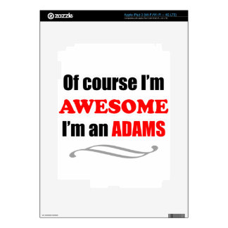Adams Awesome Family Decal For iPad 3