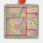 Adams, Brown, Pike counties Metal Ornament