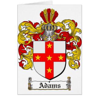 Adams Coat of Arms / Adams Family Crest Card