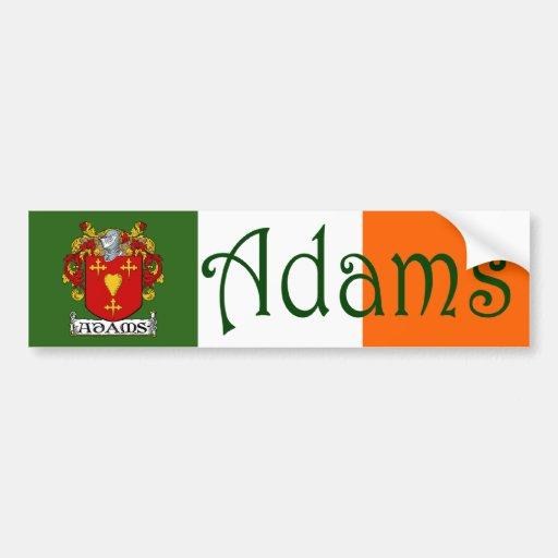 Adams Coat of Arms Flag Bumper Sticker