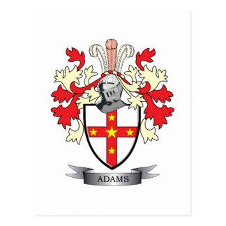 Adams Coat of Arms Postcard