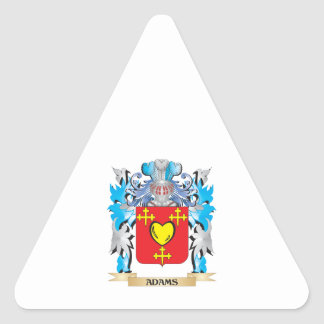 Adams Coat Of Arms Triangle Sticker