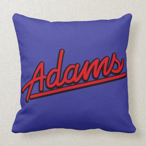 Adams en rojo cojin