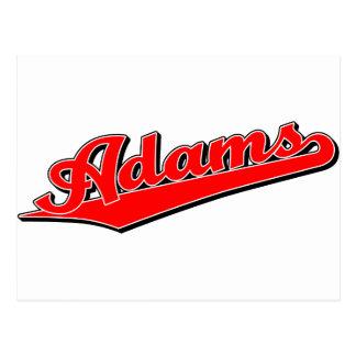 Adams en rojo tarjeta postal