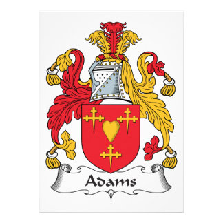 Adams Family Crest Cards