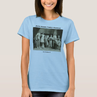 Adams Family Reunion Photo and Checklist T-Shirt