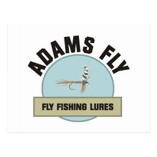 Adams Fly FIshing Lure Postcard