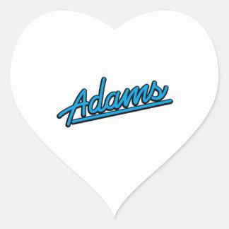 Adams in cyan heart sticker