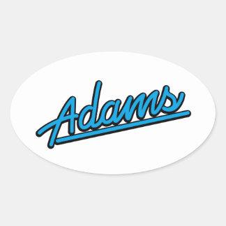 Adams in cyan oval sticker
