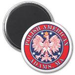 Adams Massachusetts Polish Fridge Magnets