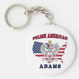 Adams Massachusetts Polish Keychain
