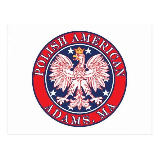 Adams Massachusetts Polish Postcard