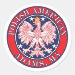 Adams Massachusetts Polish Stickers