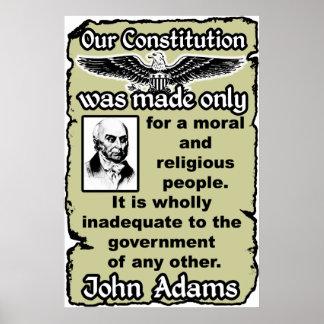Adams: Nuestra constitución Póster