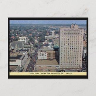 Adams St., Jacksonville FL Vintage postcard