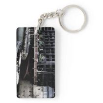 Adams Street Chicago Keychain