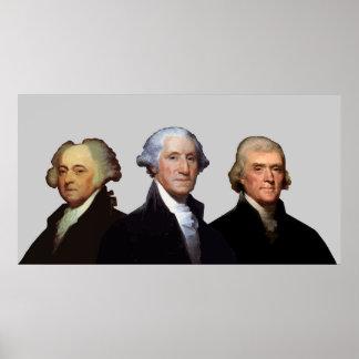 Adams, Washington, y Jefferson -- Frontera Poster