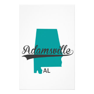 Adamsville Alabama AL City Gifts Stationery