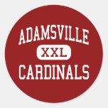 Adamsville - Cardinals - High - Adamsville Round Stickers